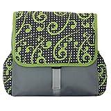 C-BAGS BETSIE double ESCANDA Gepäckträger 2-er Set Tasche verschiedene Muster (grey-green)