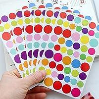L-FENG-UK 12 Sheets Dot Shape Self Adhesive Photo Album Craft Stickers Scrapbooking Diary Decorating