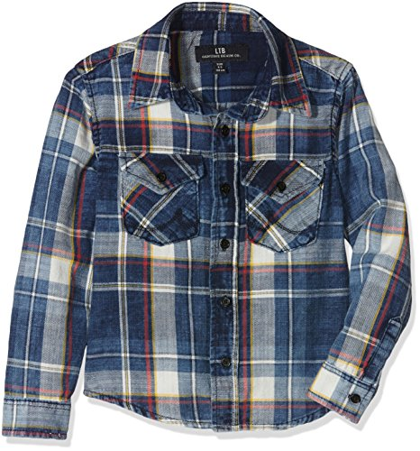LTB Jeans Mini Ryder, Camicia Bambino, Mehrfarbig (Navy Plaid Wash 4164), 7 anni
