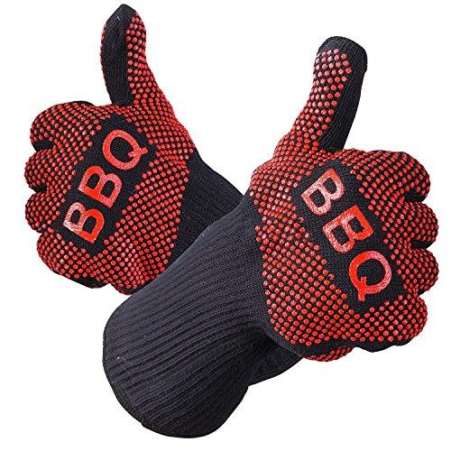 mige 932°F Extreme hitzebeständig BBQ Handschuhe, EN407zertifiziert Handschuhe, dick,,, Gewicht, flexible, Wärme Proof Ofen Handschuhe, Best isoliert Hitze, Küche, kochen, Grillen und Lebensmittel Handhabung (Kostüme Shredder)