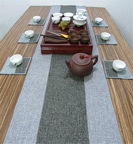 Sucastle® 35x400cm Linge de maison Chemin de Table Cuisine Imperméable Décoration en Aspect naturel