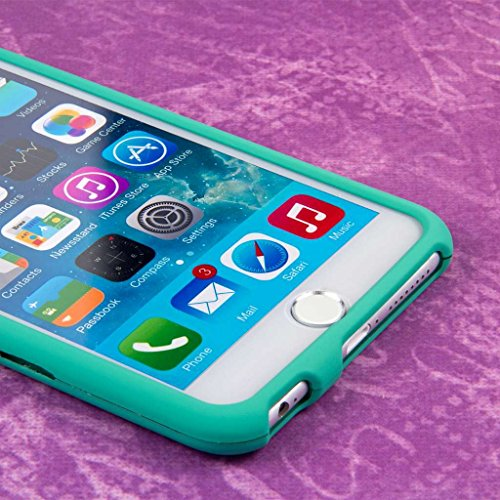 "MPERO SNAPZ Series Glossy Case Custodia per Apple iPhone 6 Plus 5.5"" - White Paint Splatter Mint Green, SNAPZ"