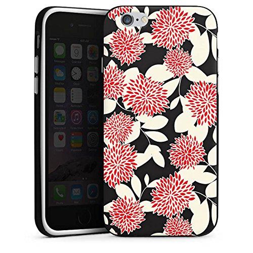Apple iPhone X Silikon Hülle Case Schutzhülle Blumen Ornamente Muster Silikon Case schwarz / weiß