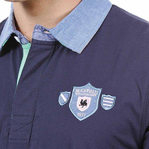 Ruckfield Herren Poloshirt Blau