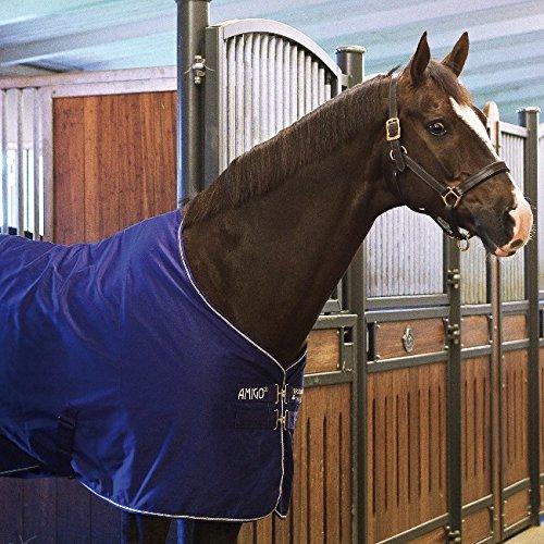 Horseware Amigo Stable Sheet 0g-Atlantic Blue/Altantic Blue&Ivory/ Stalldecke, Groesse:155