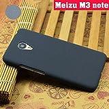 Tarkan Pudini QuickSand Matte Slim Hard PC Bumper Back Case Cover For Meizu M3 Note (Sandstone Black)