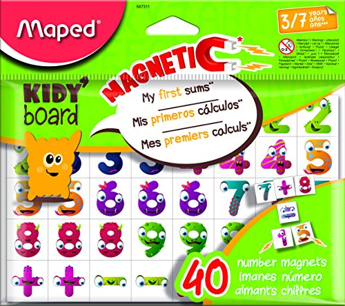 Maped m587311–Imanes Fancy 40Números para Kidy tarjeta