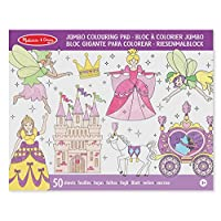 Melissa & Doug 14263 Princess and Fairy Jumbo 50-Page Kids Pad Activity Book, Assorted Colours Lime Green