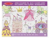Melissa & Doug 14263 Princess and Fairy Jumbo 50-Page Kids\' Colouring Pad Activity Book, Assorted Lime Green