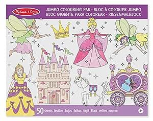 Melissa & Doug 14263 - Bloc À Colorier Jumbo Aux Motifs Princesse Et Fée