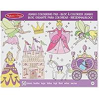 Melissa & Doug - Bloc gigante para colorear con princesas y hadas (14263)