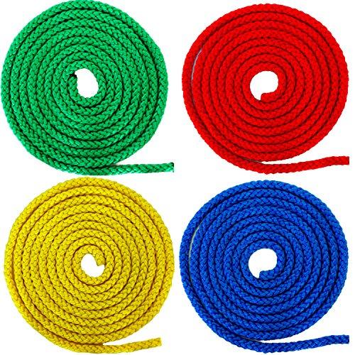 Preisvergleich Produktbild German Trendseller® - 4 x Universalseil - 2,5m Für Kinder Rot Blau Grün Gelb