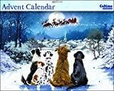 Adventskalender (wdm0031) – Night before Christmas – Hunde Watching Santa – Glitzer lackiert