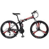 DOMDIL - Vélo de Montagne Pliable pour Hommes et Femmes Adultes, Vélo de Sport de Montagne, VTT avec 21 E'tapes de…