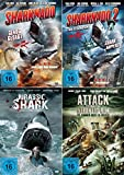 SHARKNADO 1 & 2 - JURASSIC SHARK - ATTACK FROM THE ATLANTIC RIM : Die schlechtesten Filme aller Zeiten 4 DVD Trash Collection
