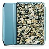Apple iPad Mini 4 Smart Case hellblau Hülle Tasche mit Ständer Smart Cover Stones Steine Fels
