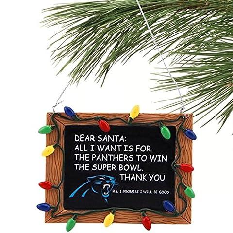 NFL Football Résine Tableau noir Panneau Vacances de Noël Ornement–Pick Team, Résine, Carolina Panthers, 3