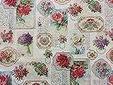 Dekostoff Gobelin Vintage, Rosen, Romantik, Shabby, Meterware, Breite 140cm, Länge 50cm, von Provencestoffe