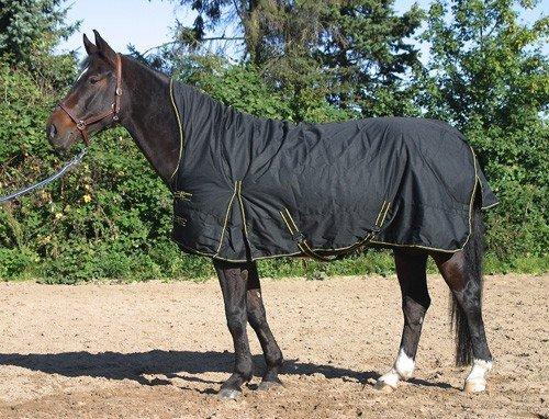 jw reitsport Highneck Winterdecke 300gr schwarz 145 cm
