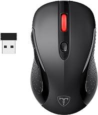 Laptop Maus, TOPELEK  PC Maus Schnurlos Maus Wireless Mouse Optical Business Mouse USB Funkmaus Optische Mäuse 2.4 G 2400 DPI Drahtlose Maus mit Nano-Receiver, 6 Tasten, Energiesparender Schlafmodus Für PC Laptop iMac Macbook Microsoft Pro, Office, Home
