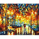 DIY Paint by Numbers for Adults Children, ABEUTY Roses in Glass Dome, Beauty and The Beast, Enchanted Rose 16x20 inches Number Painting Art Therapy