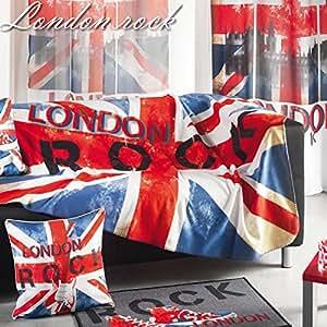 Douceur d'Intérieur Plaid Polaire Imprimé London Rock Polyester 130 x 160 x 160 cm