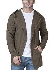 Veirdo Men's Cotton Blend Hooded Cardigan