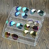 MineDecor Acryl Sonnenbrille Organizer Clear Brillen Display Case Eyewear, Box für Brille Tischplatte Halter Ständer One Size 6 Tier