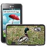Solo Cellulare Hot Style Cellulare Pc Hard Case Cover//M00139505Birds Duck Mallard Anatre Uccelli acquatici//LG OPTIMUS L5II Dual E455/E460