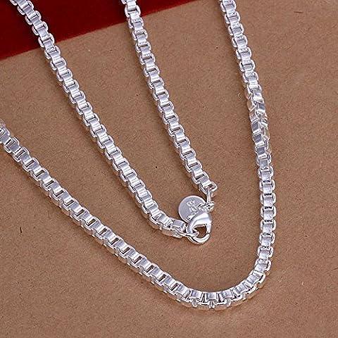 Casella catena placcata argento collana 24