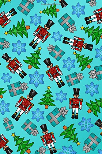 Journal: Turquoise toy soldiers presents snowflakes christmas trees notebook