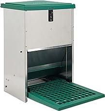 Olba Futterautomat Feedomatic 12kg mit Trittplatte für 12kg Futter, Geflügel-Futterautomat, Hühnertrog, Futtertrog