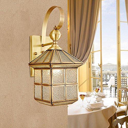Volles Kupferglas Glas Wand Lampe Wohnzimmer Schlafzimmer Nachttisch Dekor Dekoration