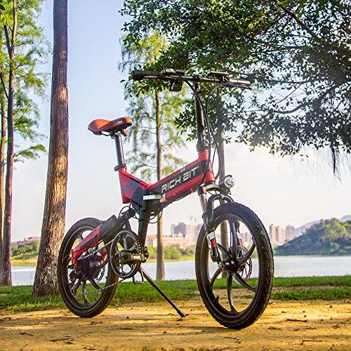 RICH BIT RT730 Bicicleta Eléctricas LCD Inteligente Bicicleta Plegable Bicicleta eBike 250W * 48V * 8Ah Li-batería Disco Freno Ciudad...