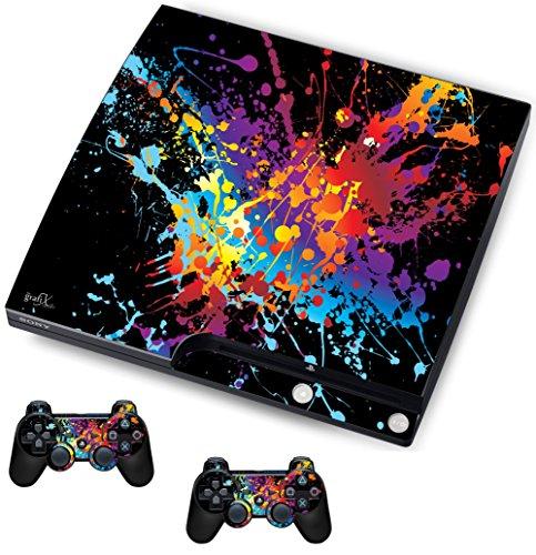 The Grafix studio Paint Design Aufkleber/Haut PS3Playstation Slimline Konsole und Fernbedienung Controller Aufkleber, psk19 -