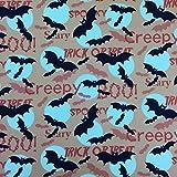 Türkis Halloween Creepy Fledermaus Design 100% Baumwolle