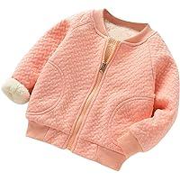 Manteau À Manches Longues Bébé Filles Garçons Veste Zip Sweat Cardigan De Fourrure avec Poche Épais Chaud Haut Simple…