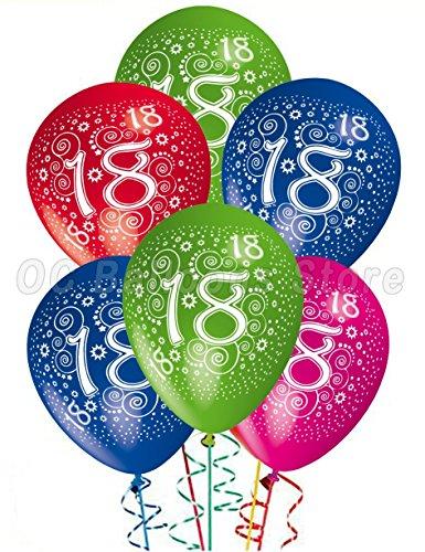 Palloncini Compleanno 18 anni addobbi e decorazioni per feste party confezione 25pz