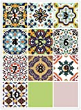 OOFAYWFD 10Pcs / Set Tile Stickers Transfer Traditional Kitchen Bathroom