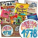 Original seit 1978 | Schokoladen Paket | Geschenk Ideen | Original seit 1978 | Schokoladenbox | Geschenke zum 40 Geburtstag Mann lustig | INKL DDR Kochbuch