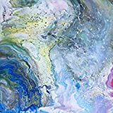Unikat Exklusive-ART Malerei abstrakt Bild handmade öl original painting acryl modern XXL Titel: open water (50 cm x 50 cm)