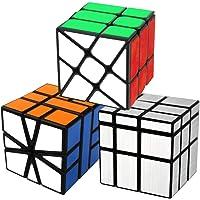 Cooja Cubes Magiques Square One + Fenghuolun + Mirror Cube, Speed Cube Set 3 Pack Magic Cubes Casse Ttete Cube Cerveau…