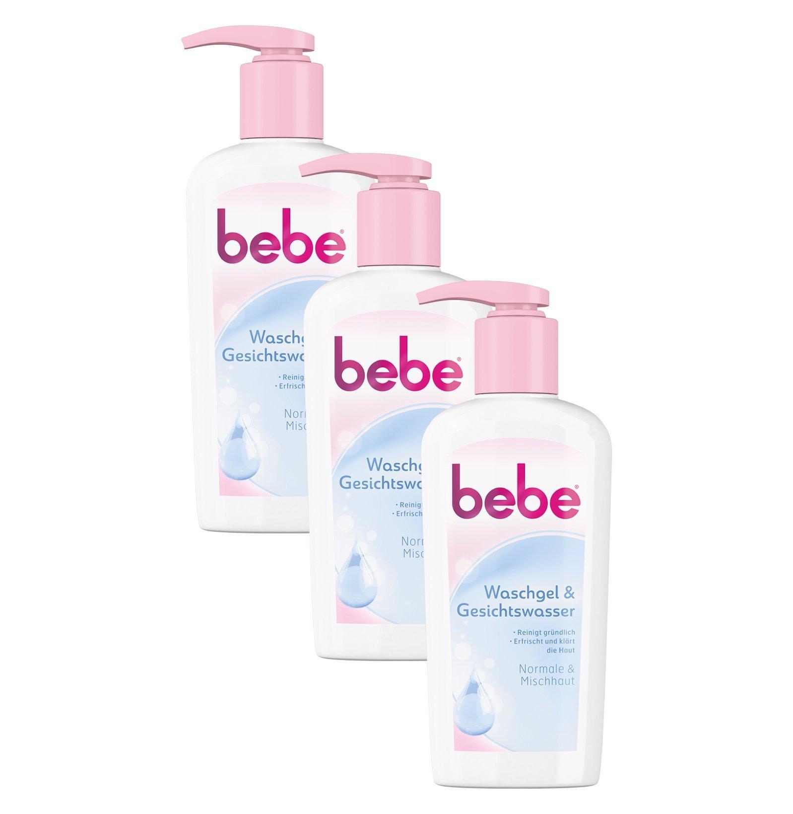 Bebe waschgel & Viso Acqua/pulizia delicata Viso per pelle normale e grassa/3�X 200�ML