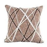 Abnehmbare Stilvolle Einfachheit Polyester Kissenbezug HARRYSTORE Baumwolle Waschbar Sofa Dekokissen Fall Home Decor - 45cm*45cm (Braun)