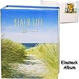 Unbekannt großes Einsteckalbum / Memoalbum / Fotoalbum -  Reise / Urlaub - Strand & Düne am Meer  __ 200 Bilder & Fotos - 10 x 15 - Gebunden zum Einstecken - groß 50 ..