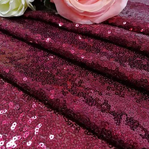 shinybeauty sequin-table-runner-12X 183, Fuschia für Hochzeit party-tablecloth-banquet Abendessen Tisch Overlay