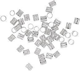 Phenovo 50pcs / Pack Microring Perlen Z?pfe Flechten Beads Haarverl?ngerung