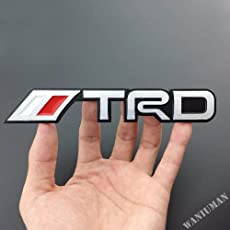 Automaze TRD Performance Emblem Sticker 3D Car Red Chrome Grill Badge Logo Sticker For All Toyota Cars