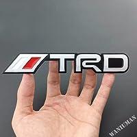 Automaze TRD Performance Emblem Sticker 3D Car Red Chrome Grill Badge Logo Sticker For All Toyota Cars