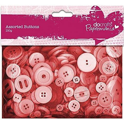 Papermania - Botones surtidos (250 g), color rojo